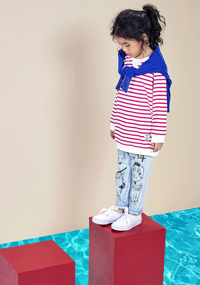 Striped Pullover_kids_pink