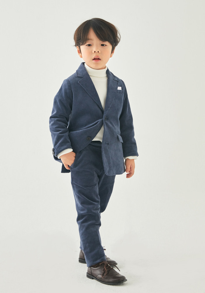 Corduroy Suit_Navy_Kids