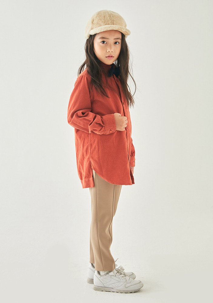 ★Corduroy_Shirt_Orange