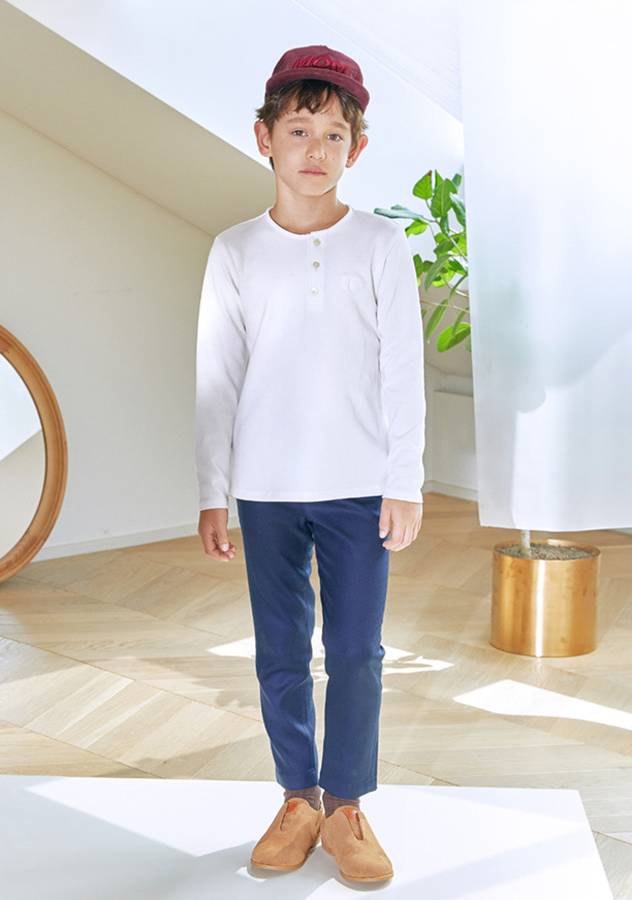 Navy Wool Slacks _ Kids