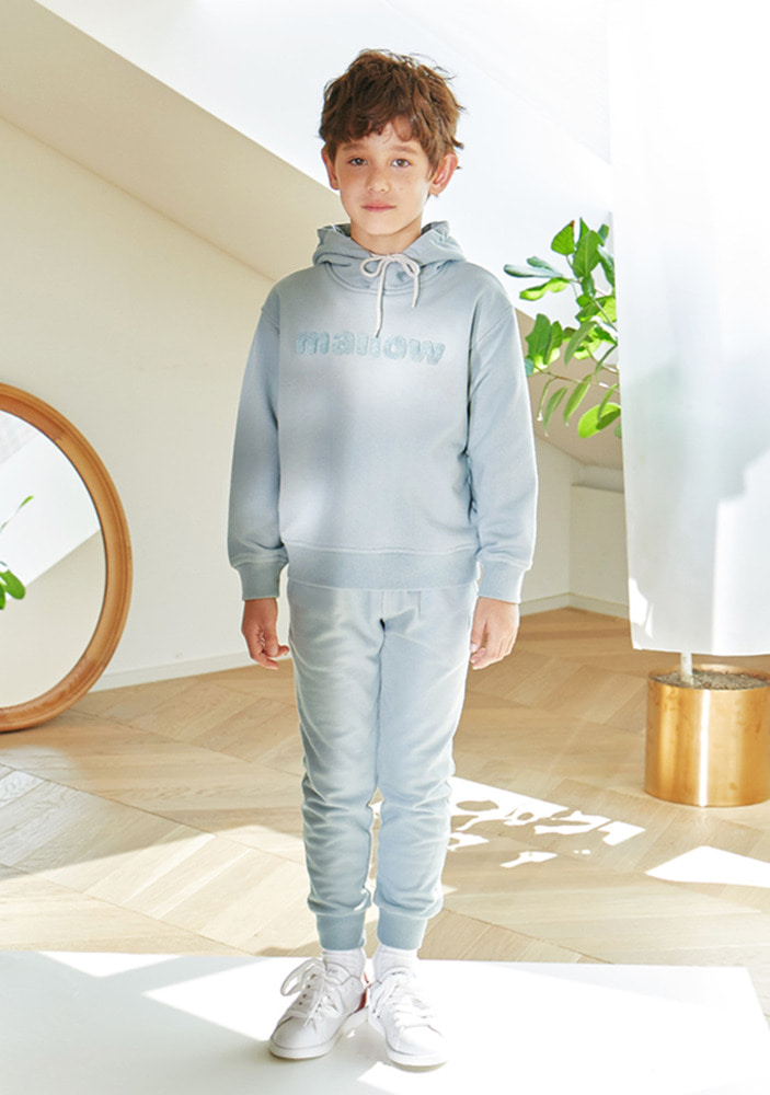 Oversized mallow hoodie & Sweat pants_Mint_Kids