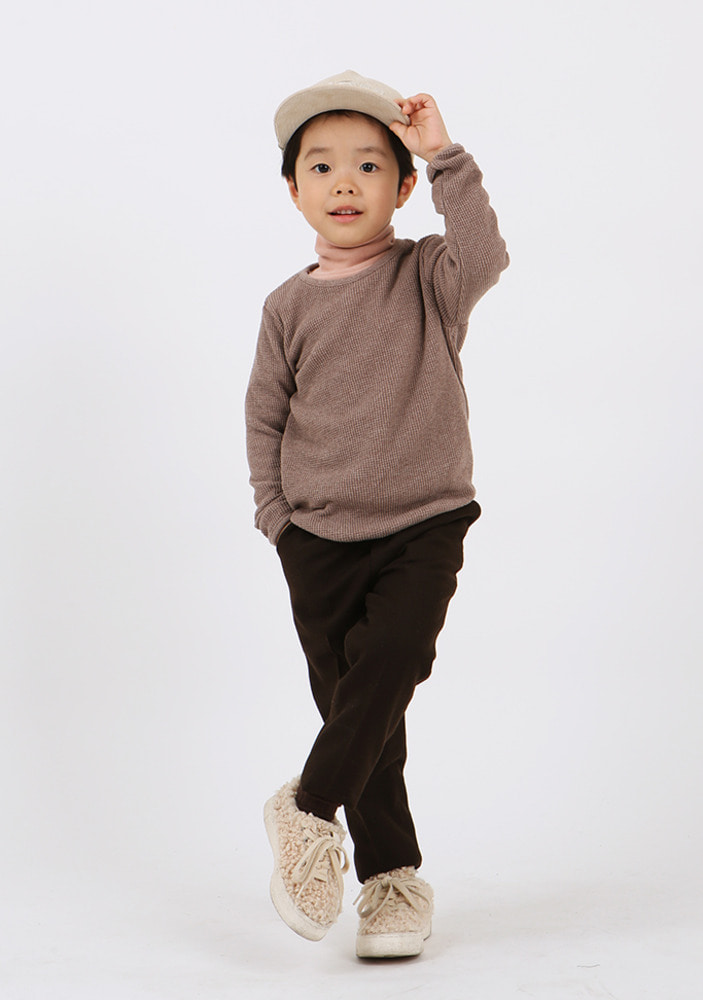 Waffle T-shirt_Brown_Baby