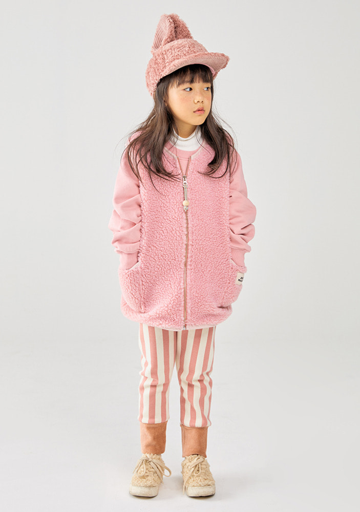 Stripe Pants_Pink_Kids