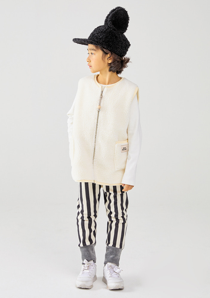 Stripe Pants_Black_Kids