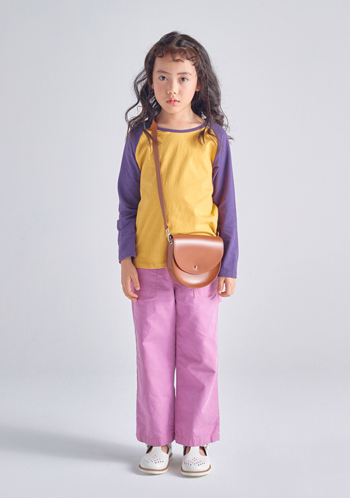 Raglan T Shirts_Purple_Baby