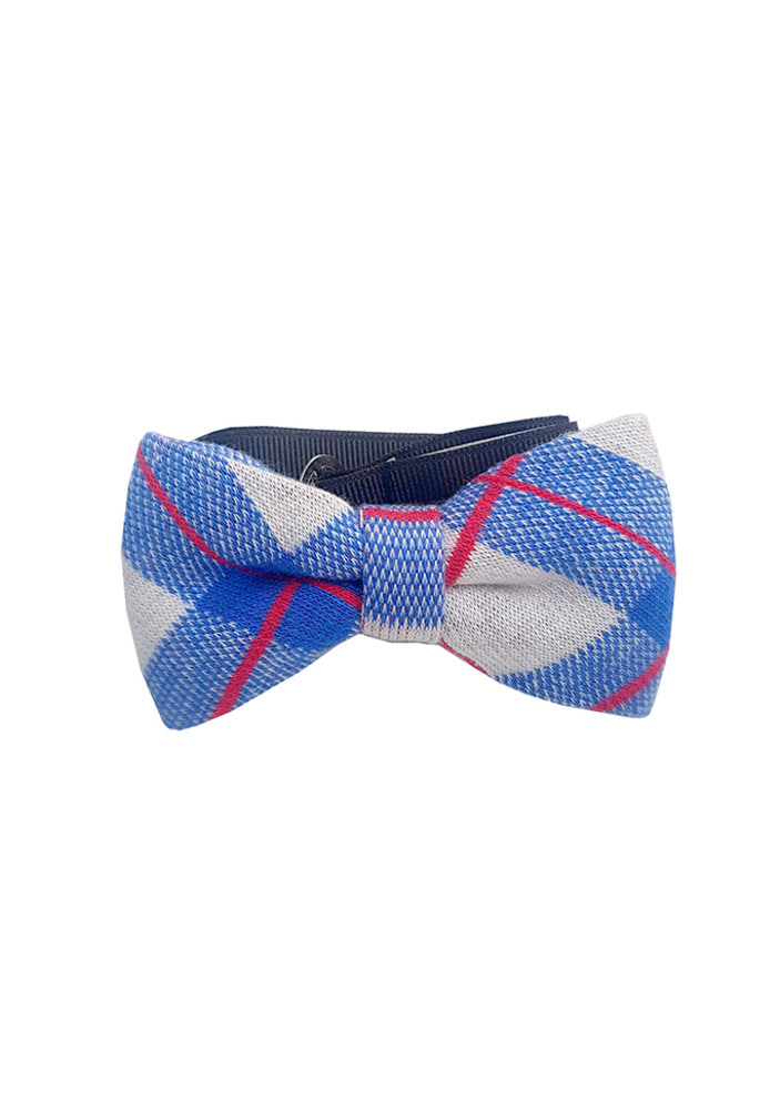 Red Check Bowtie_Blue
