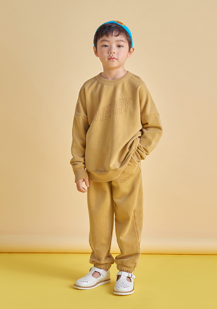 Cherry Sweat Set_Kids_Mustard