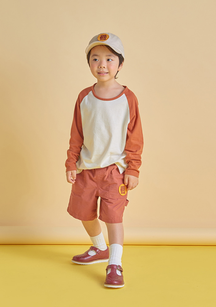 Cotton Work Shorts_Brown_Kids