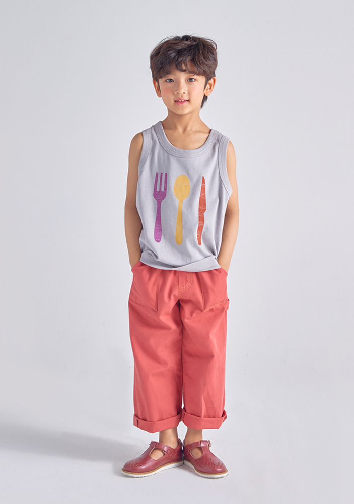 Grey Sleeveless_Kids