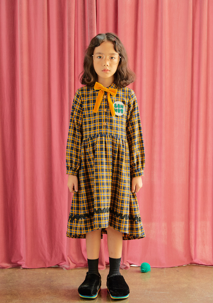 Check BONBON Dress_Kids_Yellow_#2