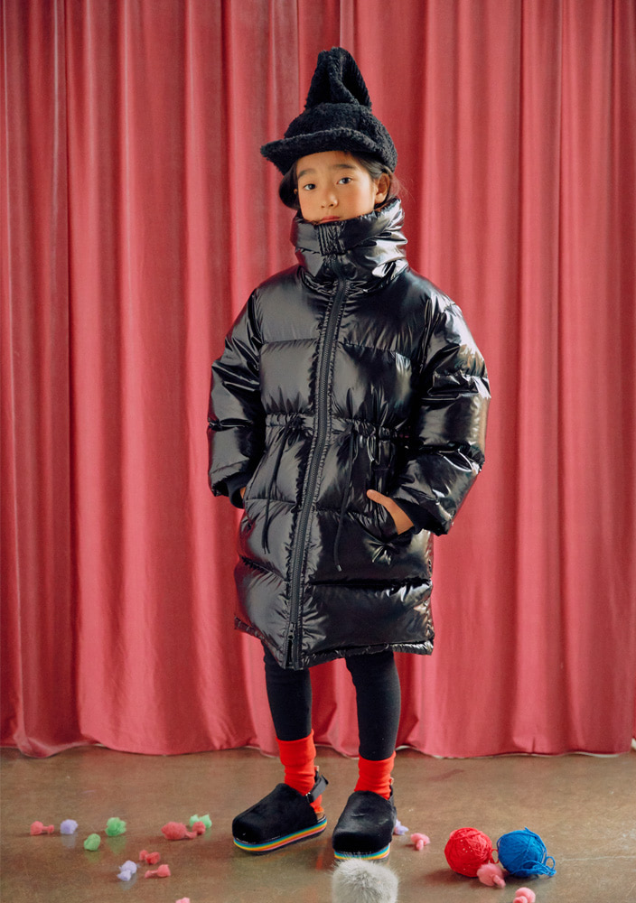 Goose down filled coat_Black