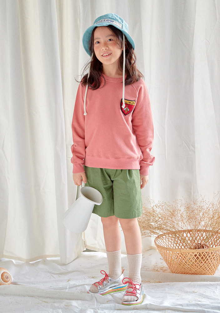 Honeybee Raglan Sweatshirt_Kids_Pink