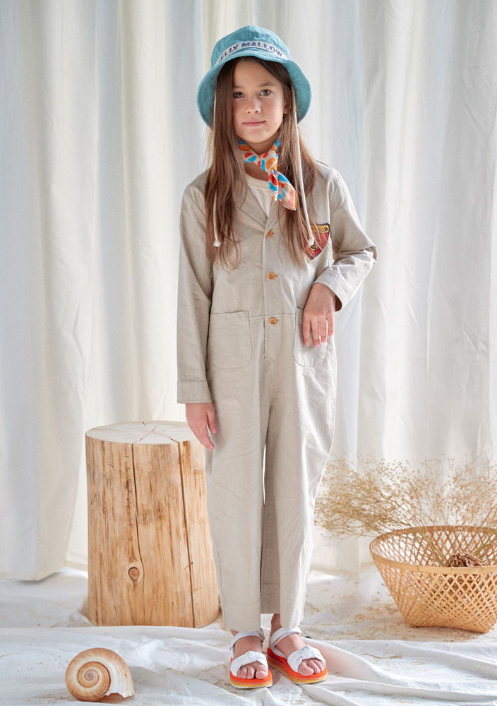 Honeybee Jumpsuit_Kids_Beige