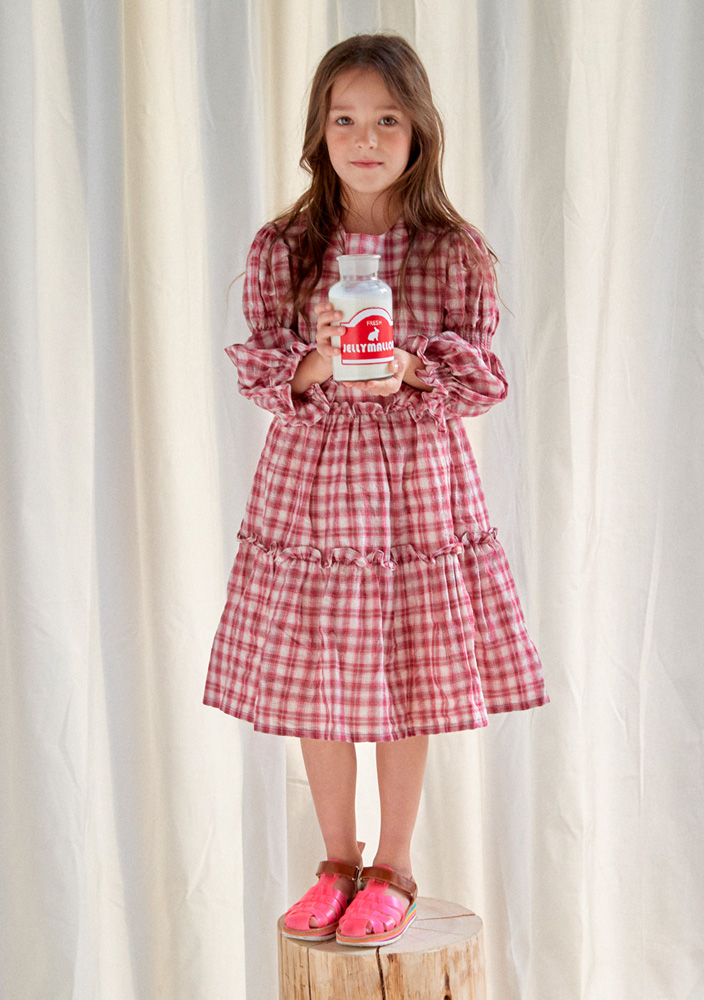 Smocking Check Dress_Kids