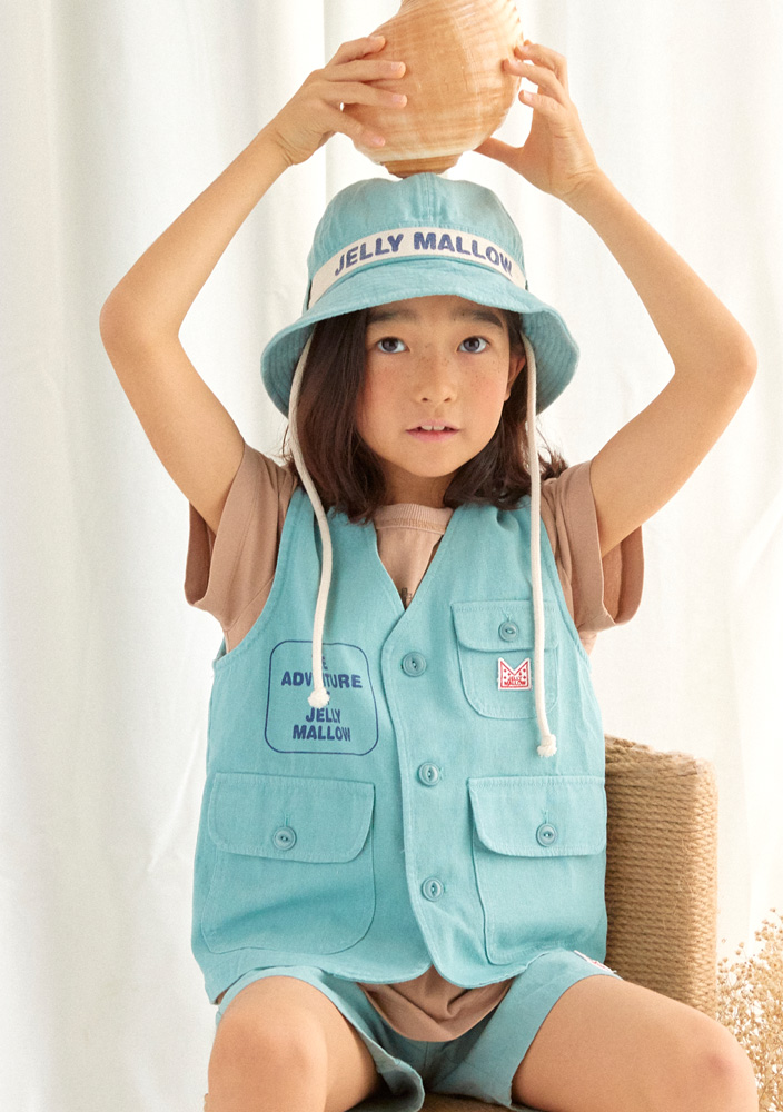 Adventure Safari Cotton Vest_Kids_Blue