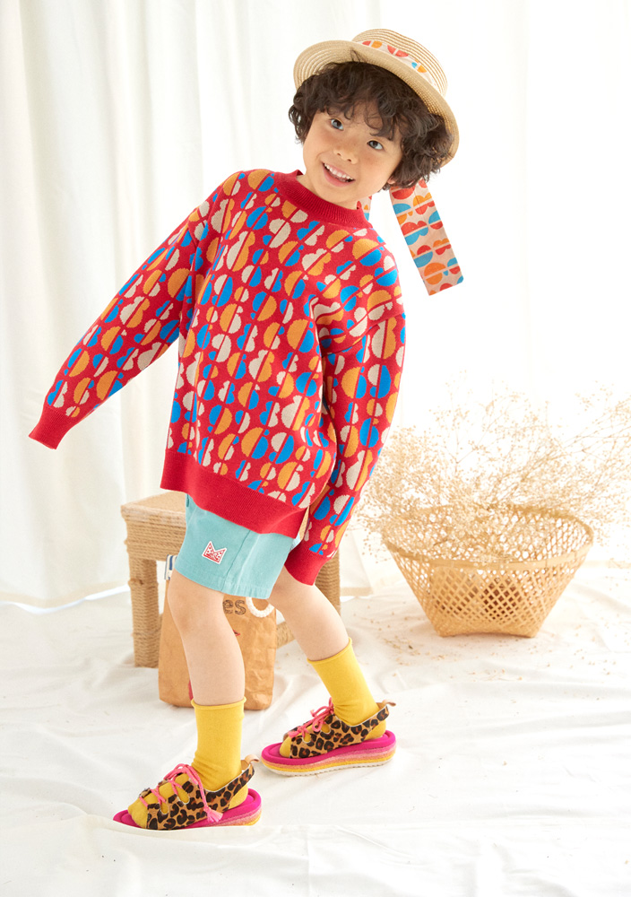 Rainbow wool sweater_Kids
