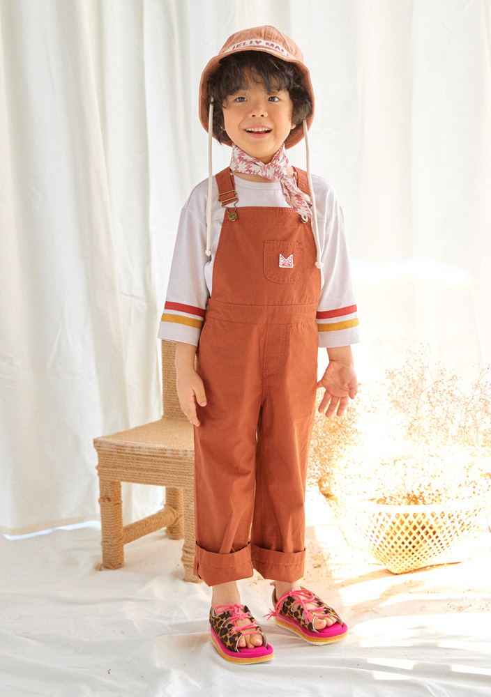 JM cotton overall_Kids_Brown