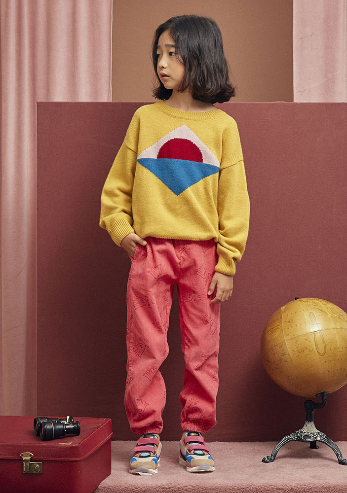 SUNSET INTARSIA WOOL SWEATER