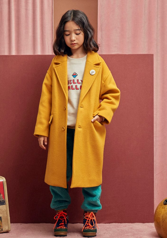 ★OVERSIZED SINGLE COAT_Mustard