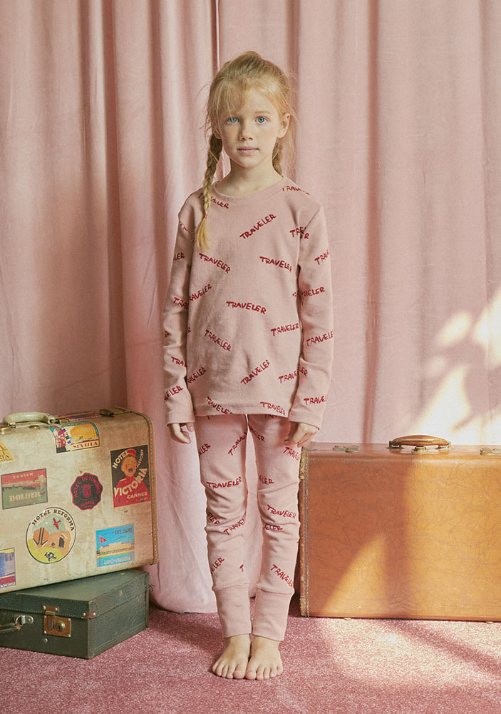 CREW NECK TRAVELER SET_Kids_Pink_#2