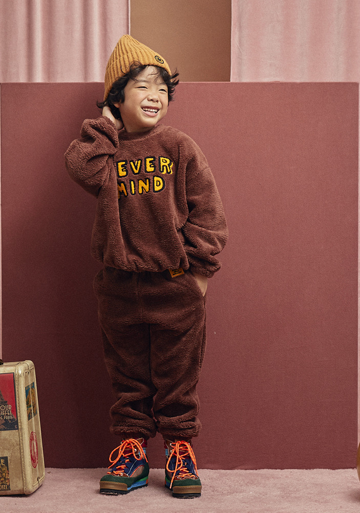 ★SHEARLING SWEATSHIRT & LOUNGE PANTS_Brown