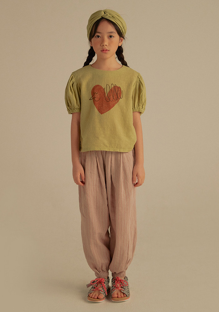 STRIPED HAREM PANTS_Kids