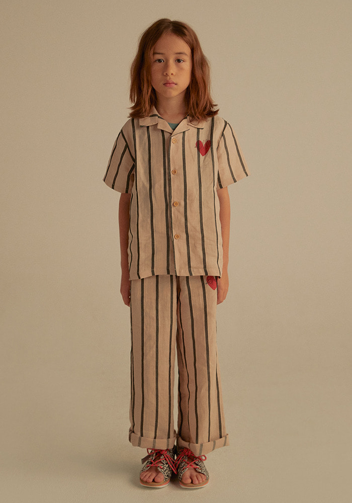 HEART BIRD LINEN PANTS_Kids_#3