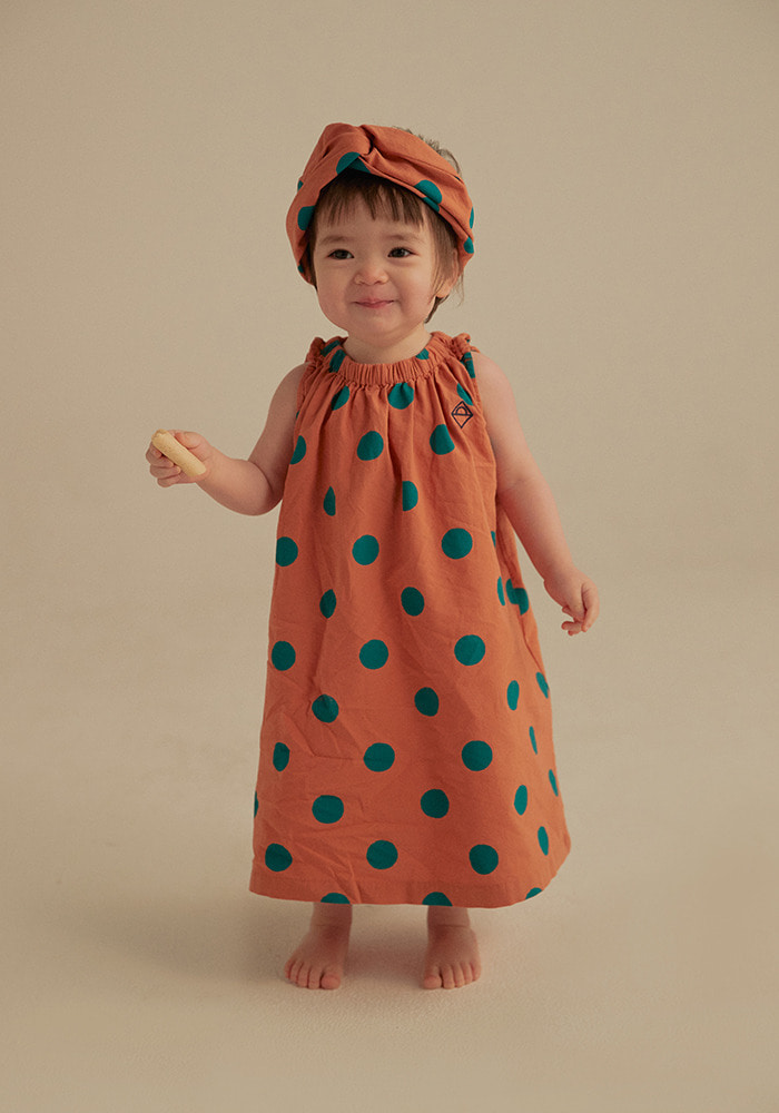 GREEN DOTTED DRESS_Baby