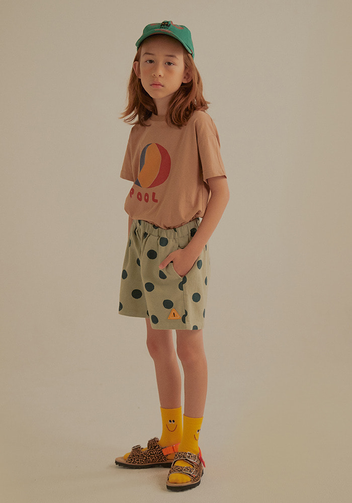 DOTTED GABARDINE COTTON SHORTS_Kids