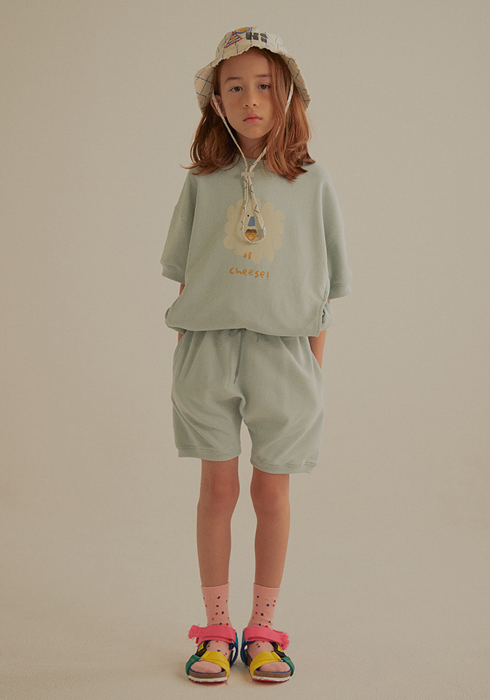 SHORT SLEEVE SWEATSHIRT SET_Mint_Kids