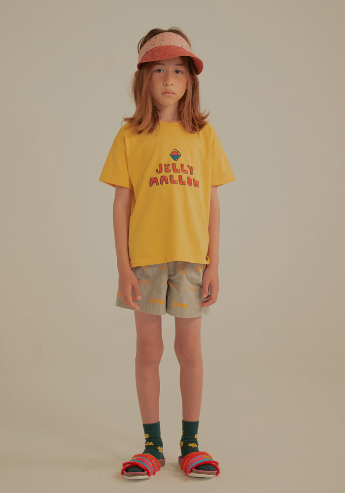 JELLYMALLOW SHORT SLEEVE T-SHIRT_Yellow_Baby