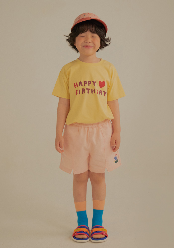 HBD SHORT SLEEVE T-SHIRT_Yellow_Baby