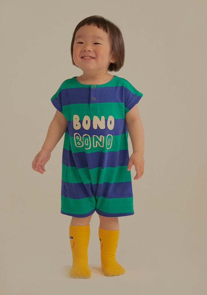 BONO STRIPE COTTON BODY_Green&Blue
