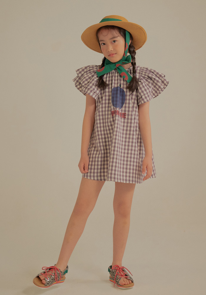 POMME FRILL DRESS_Purple_Baby