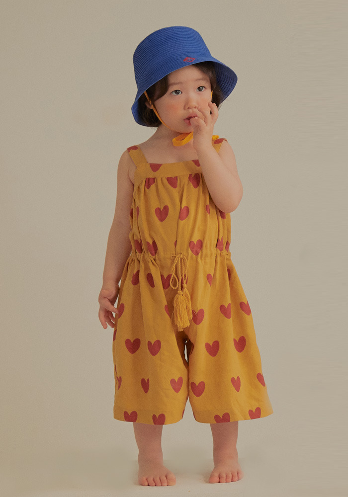 HEART WIDE OVERALL_Mustard_Baby