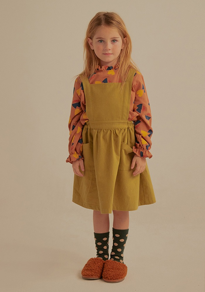 JM APRON DRESS_Green_Kids