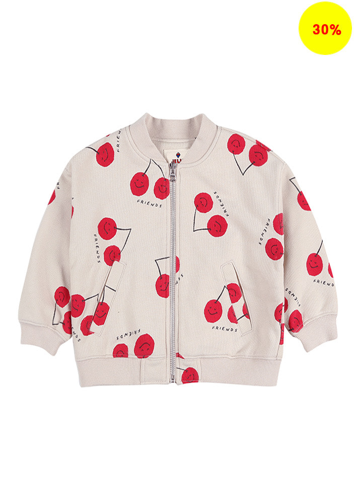CHERRY FRIENDS ZIP-UP JACKET_Baby