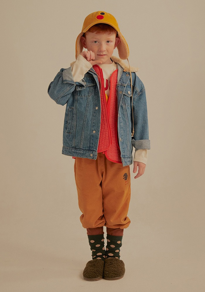 COTTON NAPPING  JOGGER PANTS_Beige_Kids#2