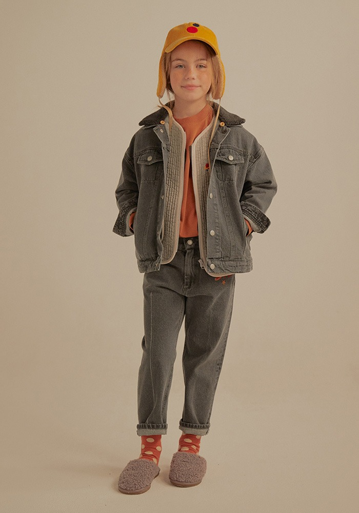 PETIT JELLY DENIM JACKET_Grey_Baby