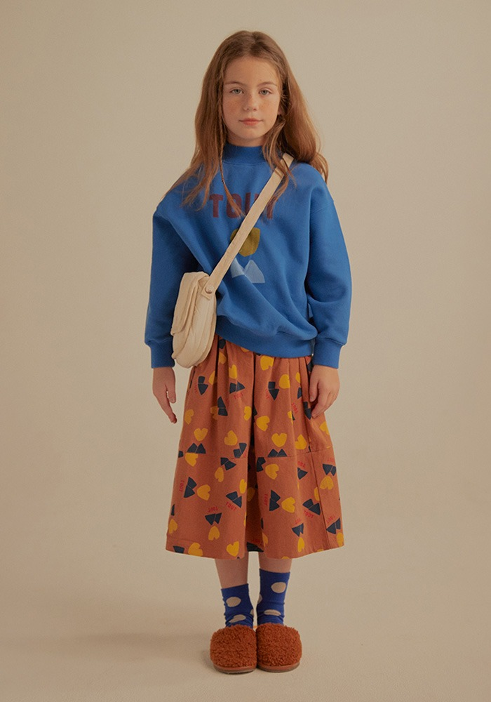TOUT MIDI SKIRT_Brown_Kids