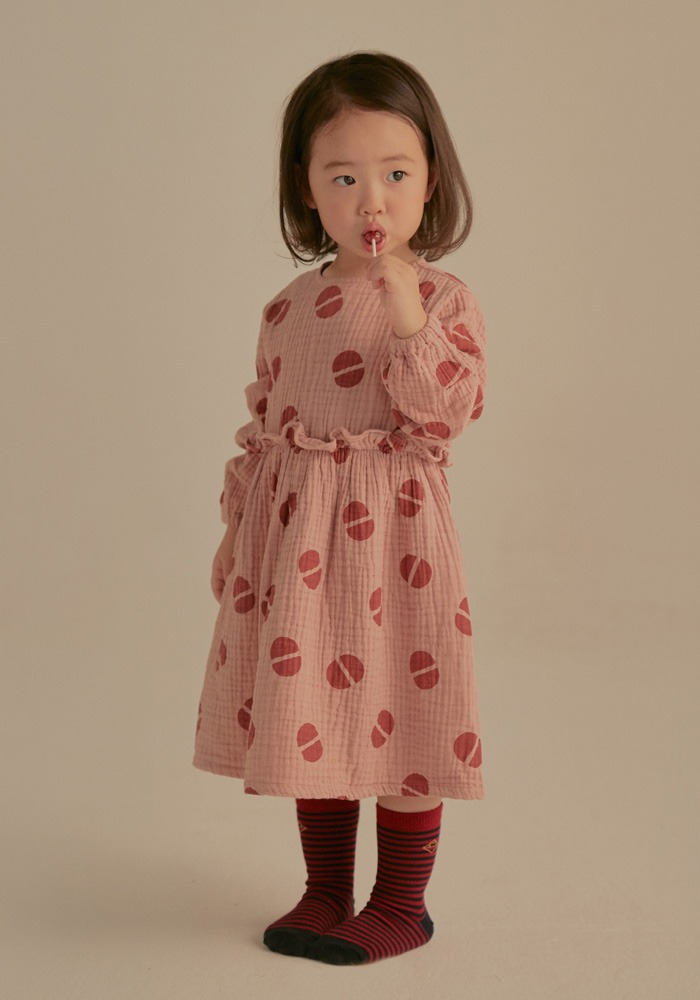 BEAN FRILL DRESS_Pink_Baby