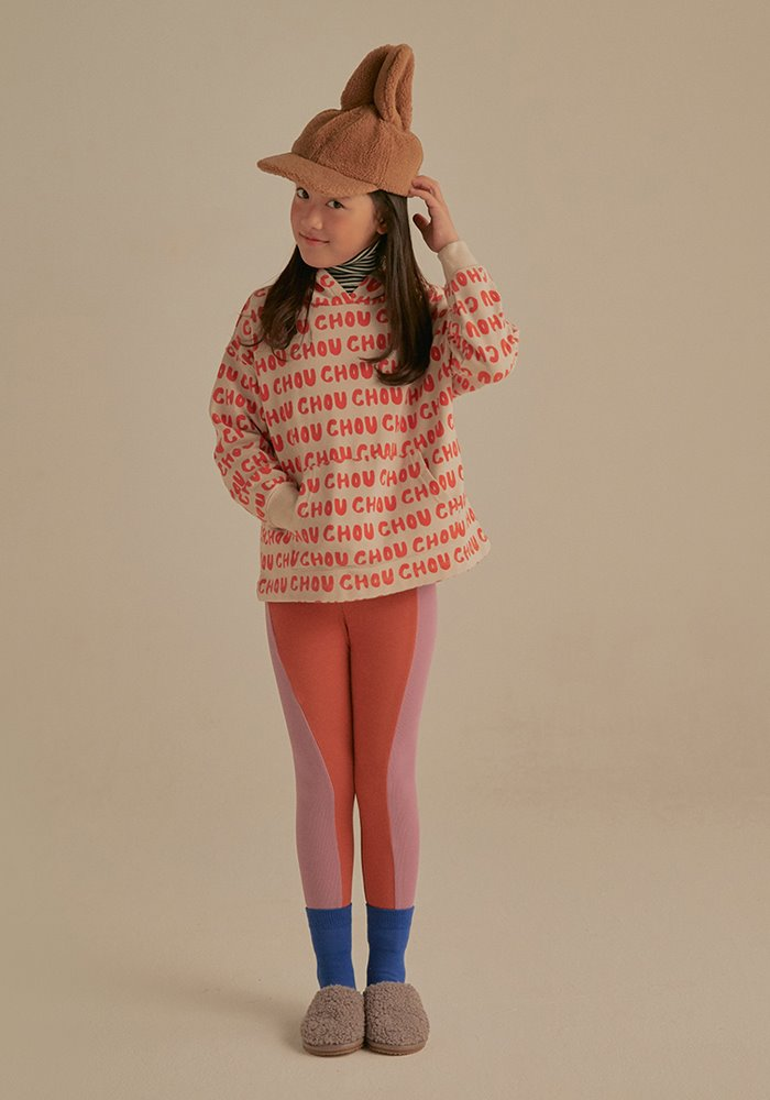 JELLYMALLOW TWO TONE LEGGINGS_Brick & Purple_Baby