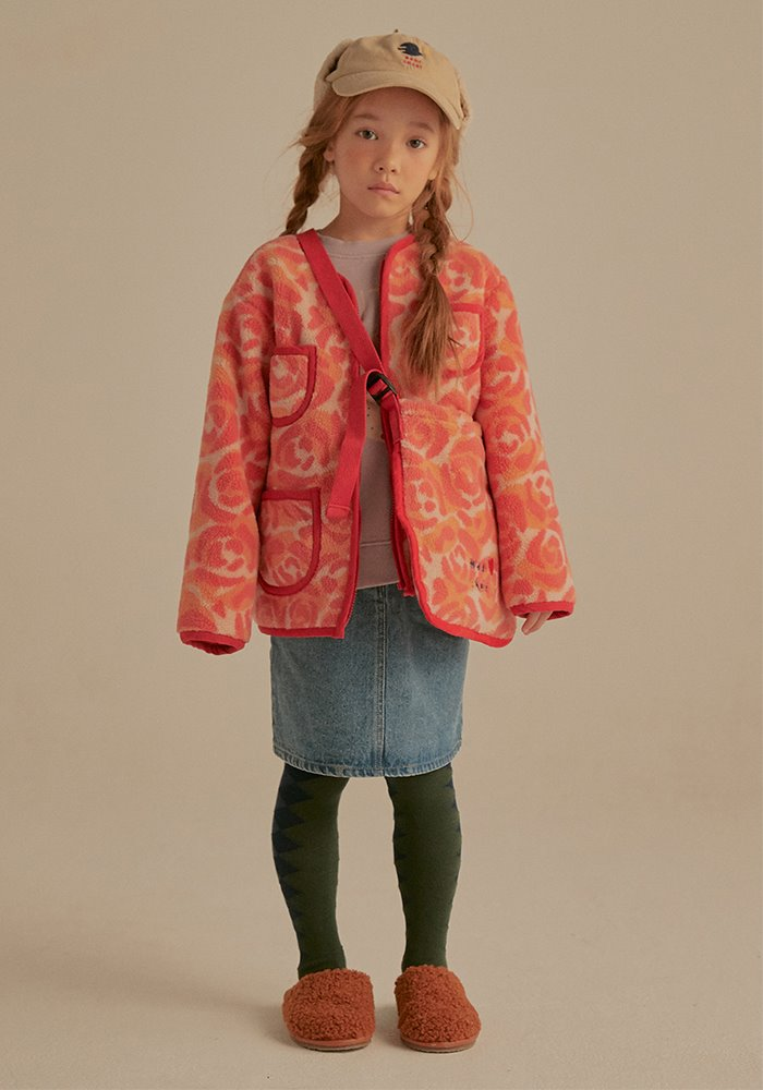 ROSE CAMO SHEARLING JACKET_Baby