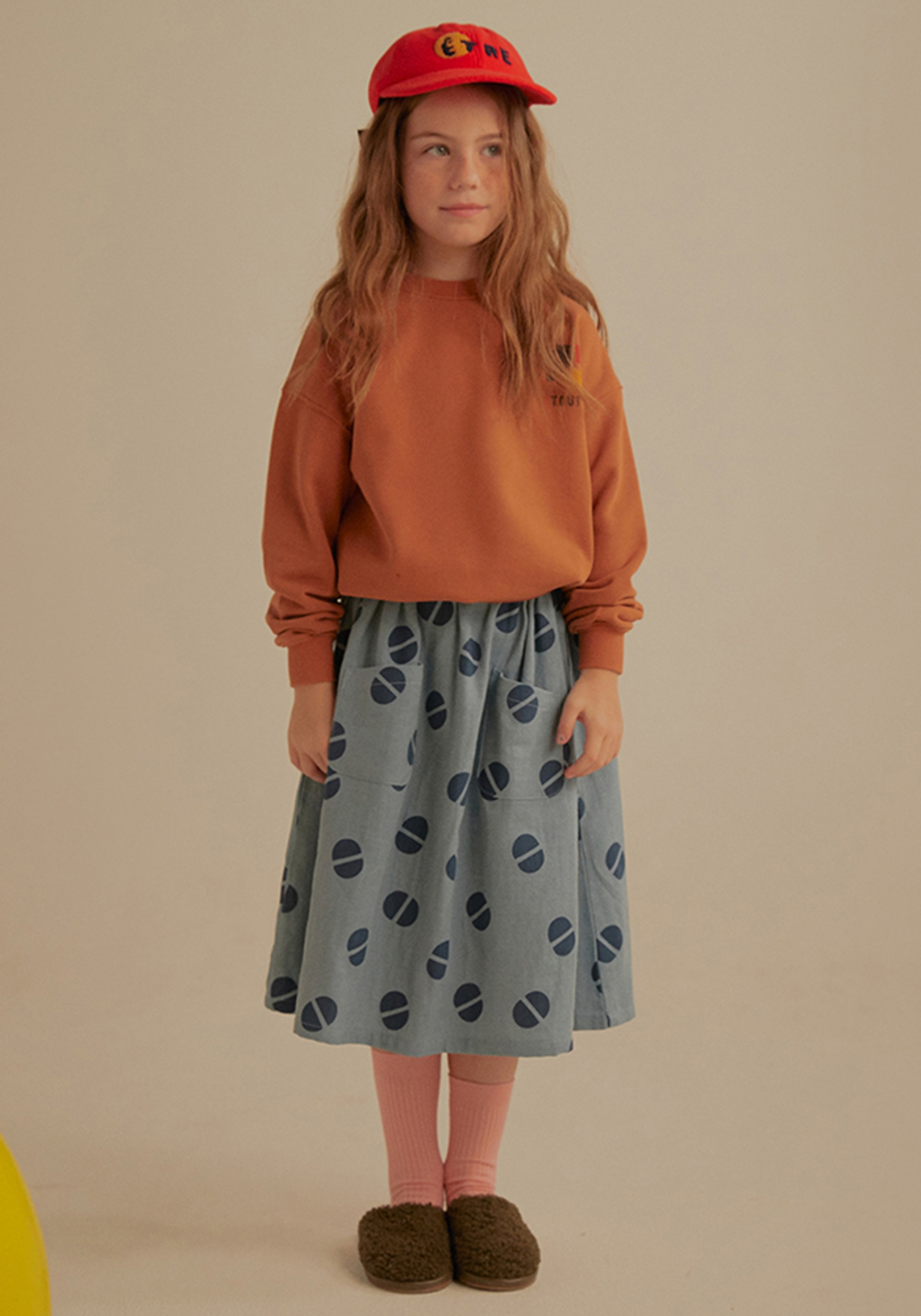 FRILL MAXI SKIRT_Blue_Kids