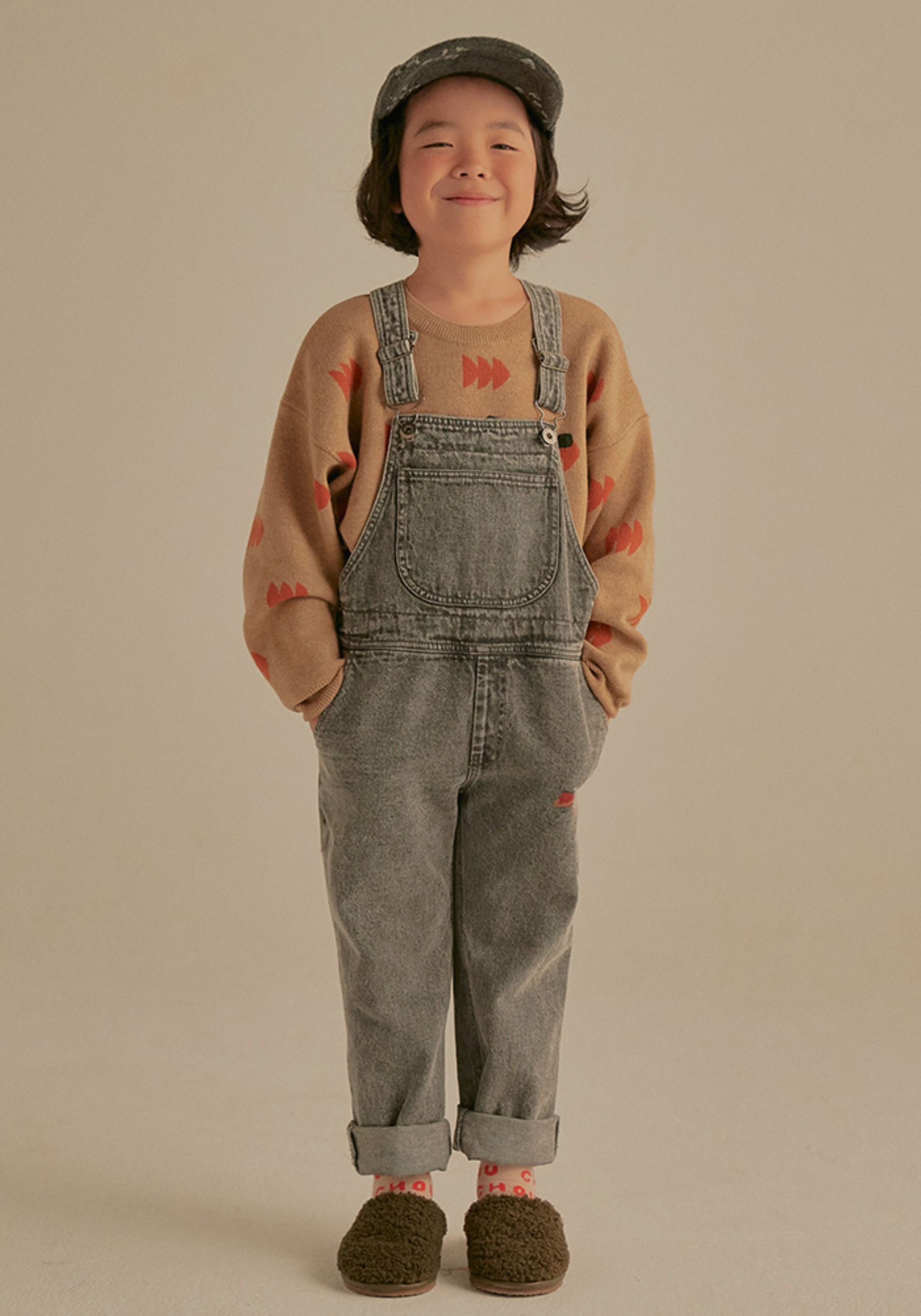 PETIT JELLY DENIM OVERALL_Grey_Kids