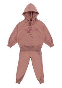 Oversized mallow hoodie & Sweat pants_Pink_Kids