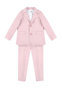 Wool Single Breasted Suit_Pink_Baby