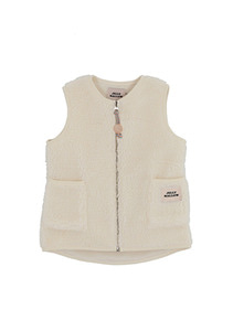 Fleece Vest_ivory_ Kids