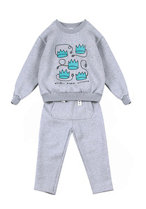Fluff Sweat Set_Grey_Baby