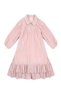 Double Shirring Dress_Pink_kids
